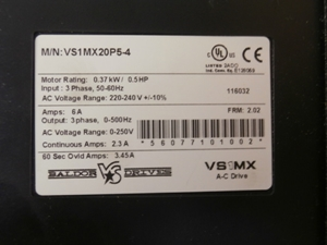 Picture of VS1MX20P5-4 Baldor Variable Frequency Drive